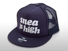 SNEA MESH CAP / is high(NAVY)