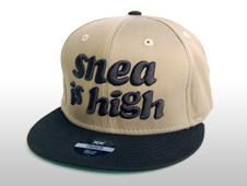 SNEA SNAP BACK CAP / is high(KHAKI × BLACK)